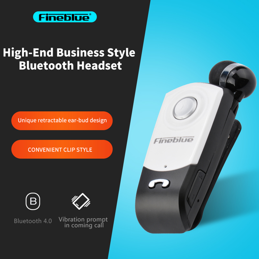 ASTROSOAR - Fineblue F960 Business Bluetooth Earphone Retractable Collar-clip Wireless Headphone