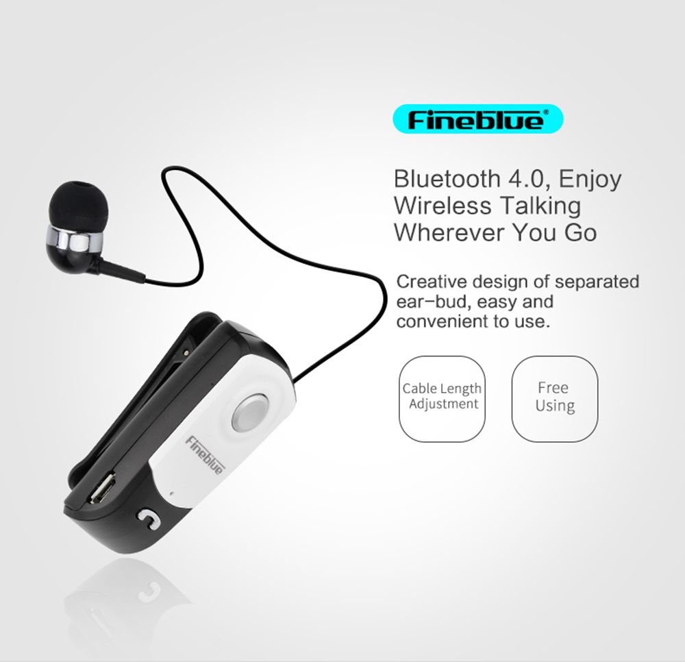 Fineblue F960 Business Bluetooth Earphone Retractable Wireless Earbud