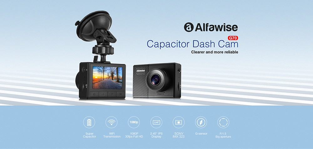 Alfawise G70 F15 Car DVR Dash Cam Black
