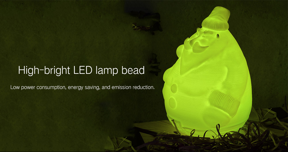 Emission Control Lamp >> 3d Printing Santa Claus Shape Night Light With Remote Control For Home