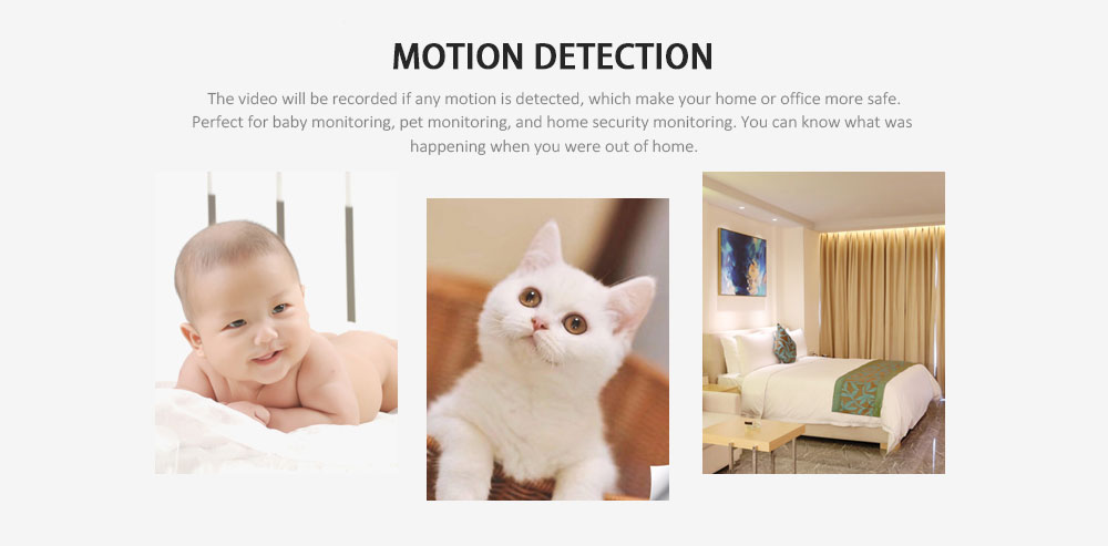 A9 WiFi 1080P Full HD Night Vision Micro Camera Wireless IP Motion Sensor DVR Home Security Cam- Black