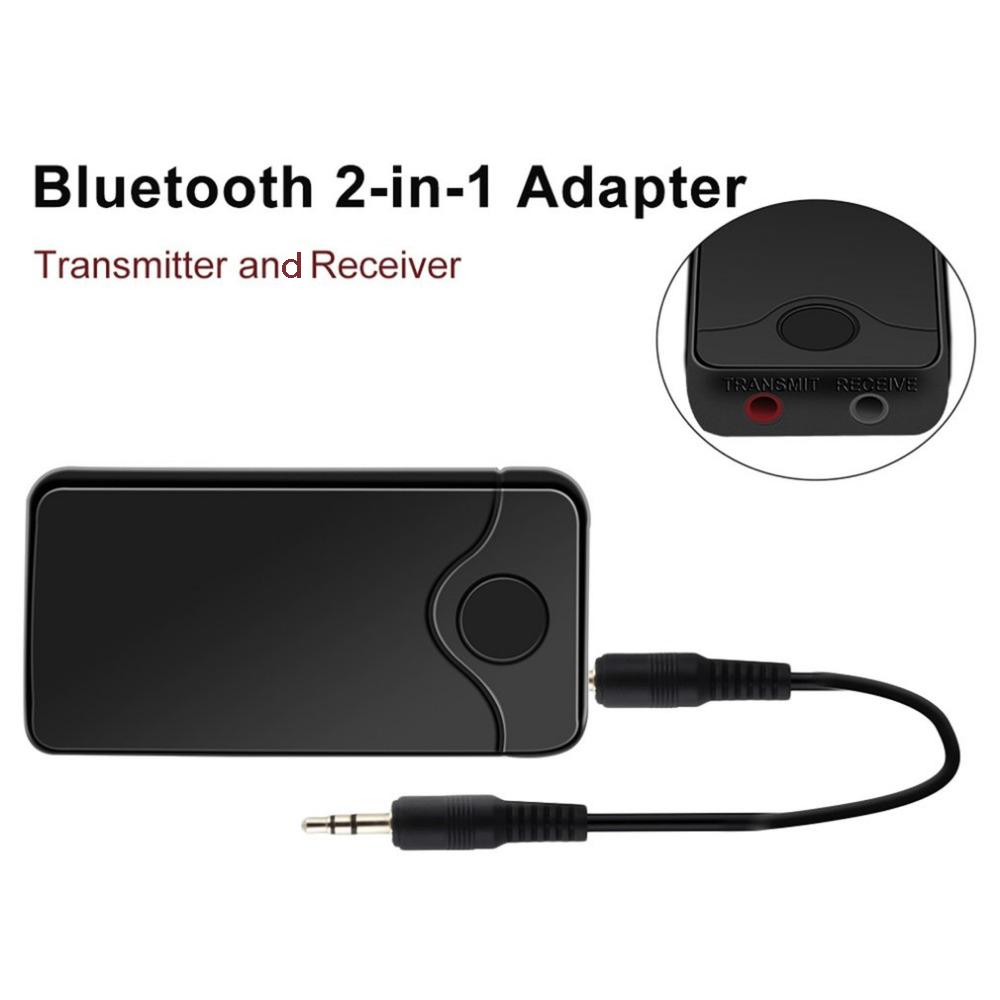 B18 Bluetooth Transmitter Wireless Audio Stereo Music Receiver Adapter Aux Out  - Black