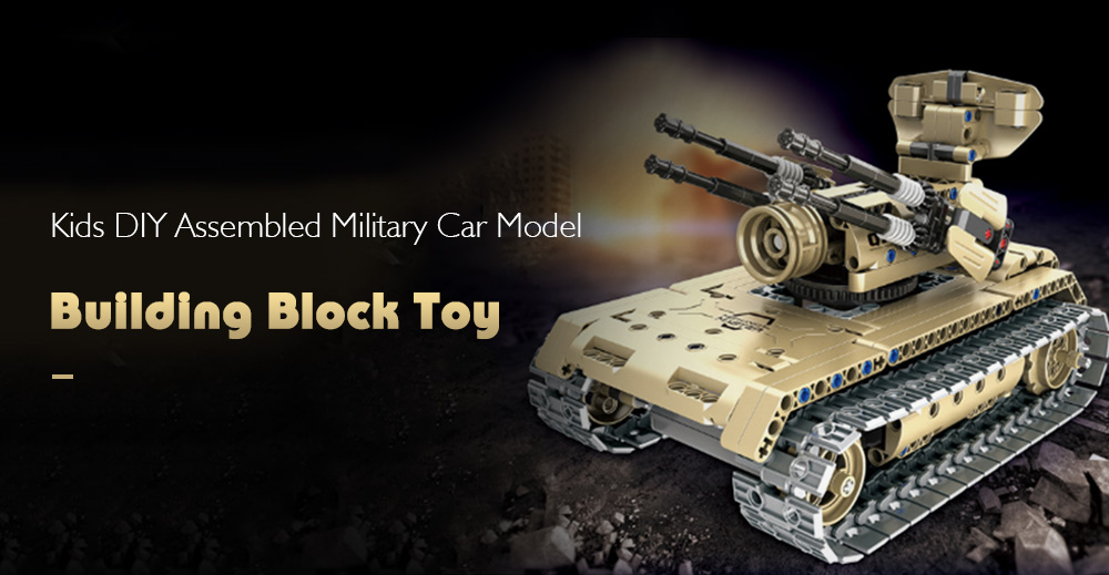Creative DIY Assembled Building Block Self-propelled Artillery Model Toy with Remote Control for Kids- Multi Self-propelled Artillery