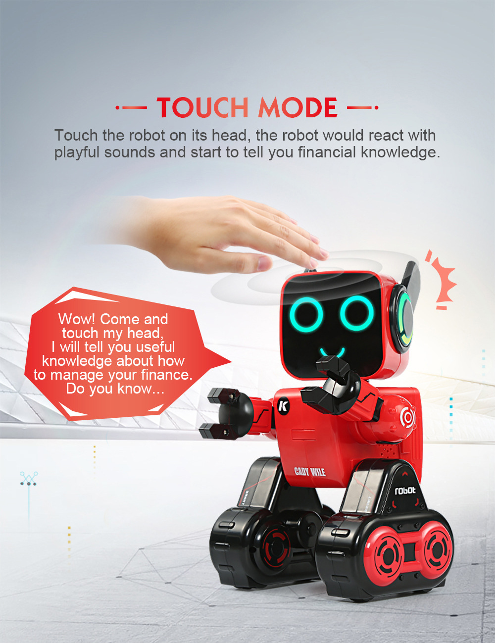Gesture Control Money Management Magic Sound Interaction RC Robot