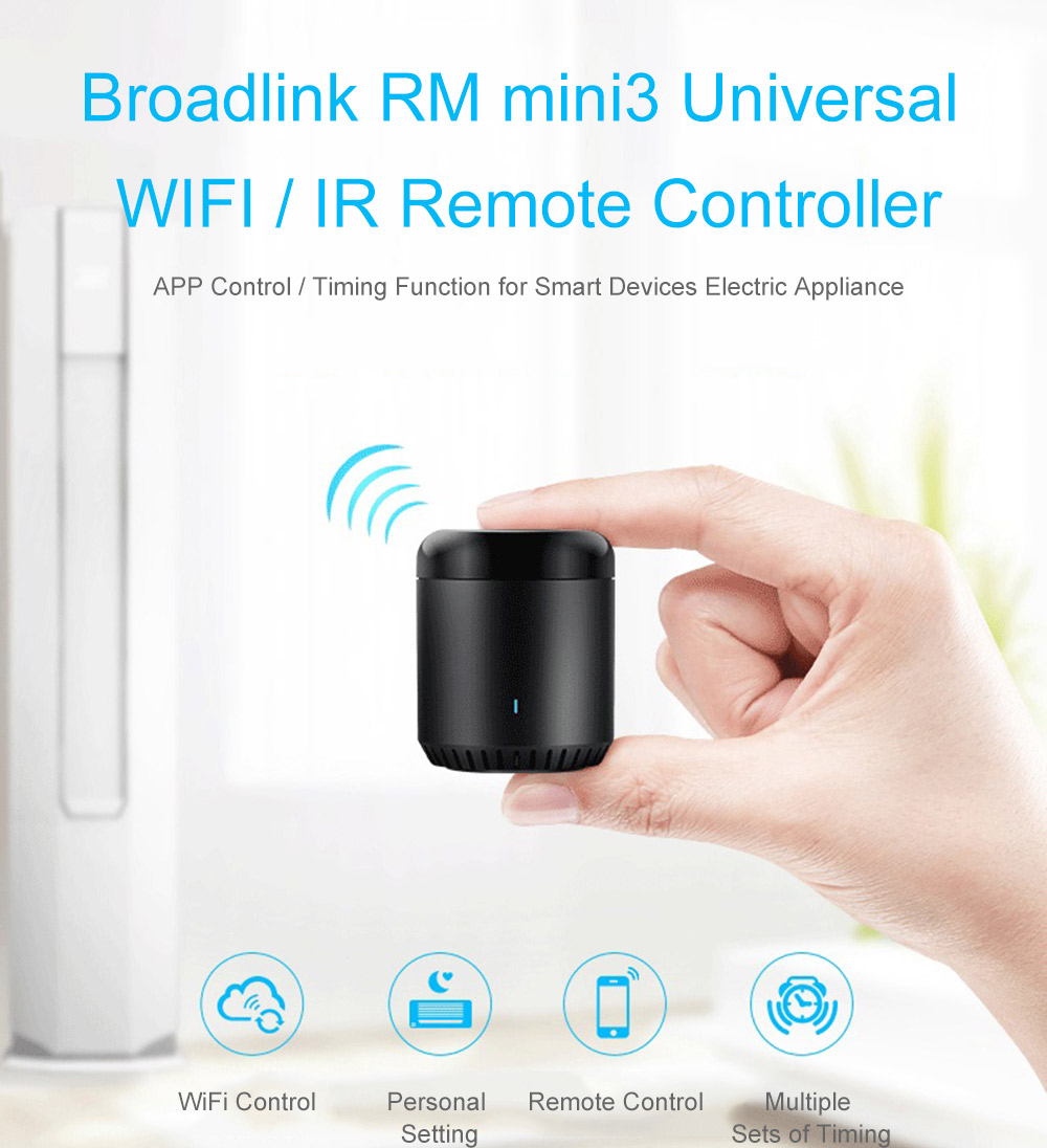 Broadlink Rm Mini3 Universal Wifi Ir Remote Controller 1339 The Wireless Control Equipment Is Delay Time Mode You Timing Function For Home Electric Appliances