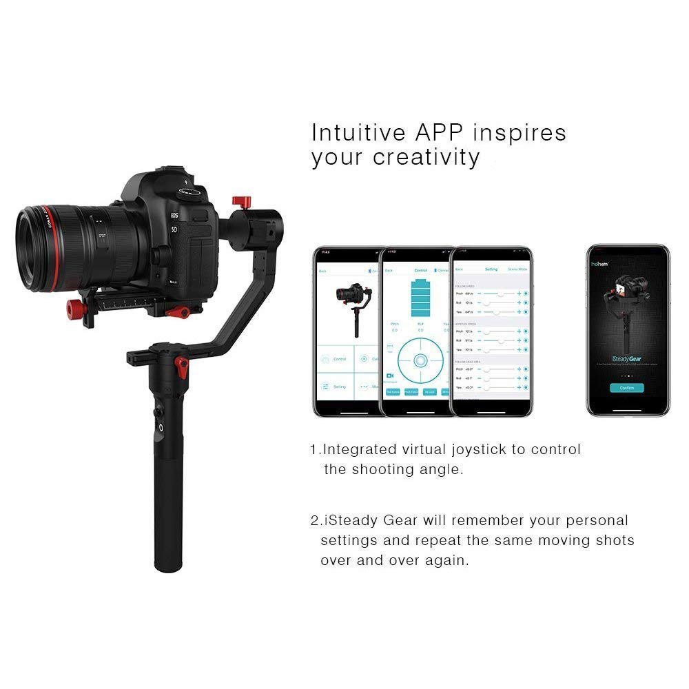 Hohem iSteady Gear 3-axis Handheld Gimbal Payload 2 5kg for DSLR /  Mirrorless Camera