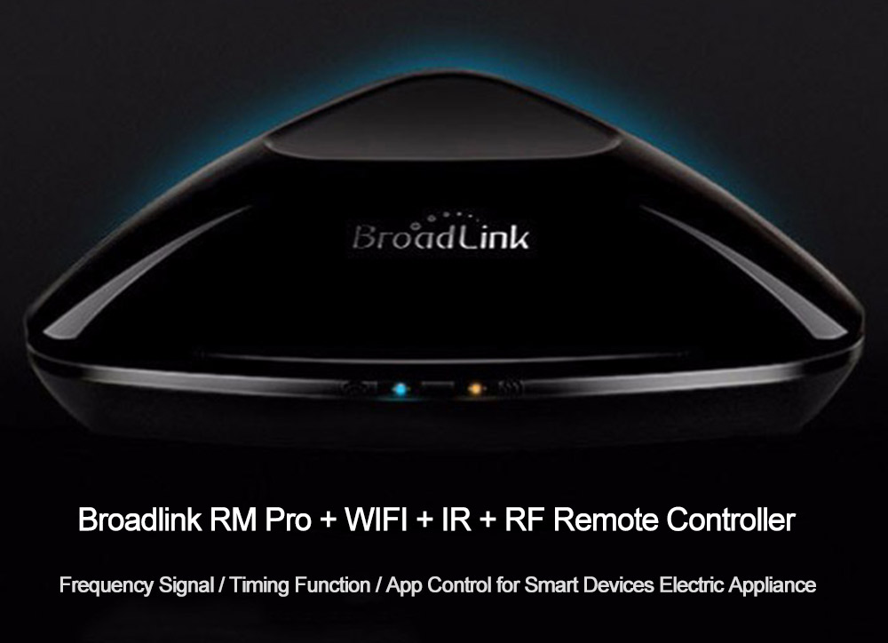 Broadlink RM Pro + WIFI + IR + RF Remote Controller Timing Function for Home Appliances- Black RM PRO+