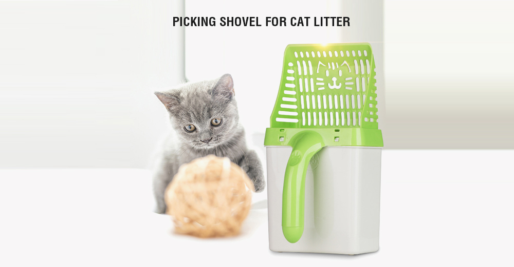 Picking Shovel for Cat Litter - Green