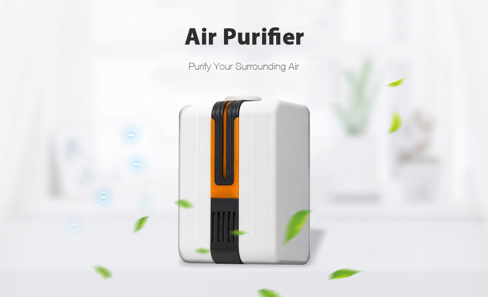 220v Household Type Negative Ion Generator Anion Air Purifier IONS Dust Collector- Blueberry Blue EU Plug