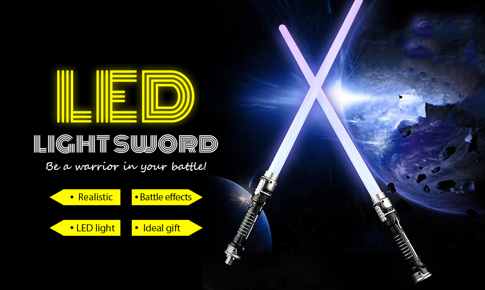 LED Light Sword for Warrior War Fighters 2PCS- Multi-A