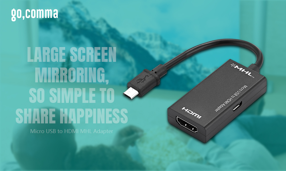 gocomma Micro USB to HDMI MHL Adapter