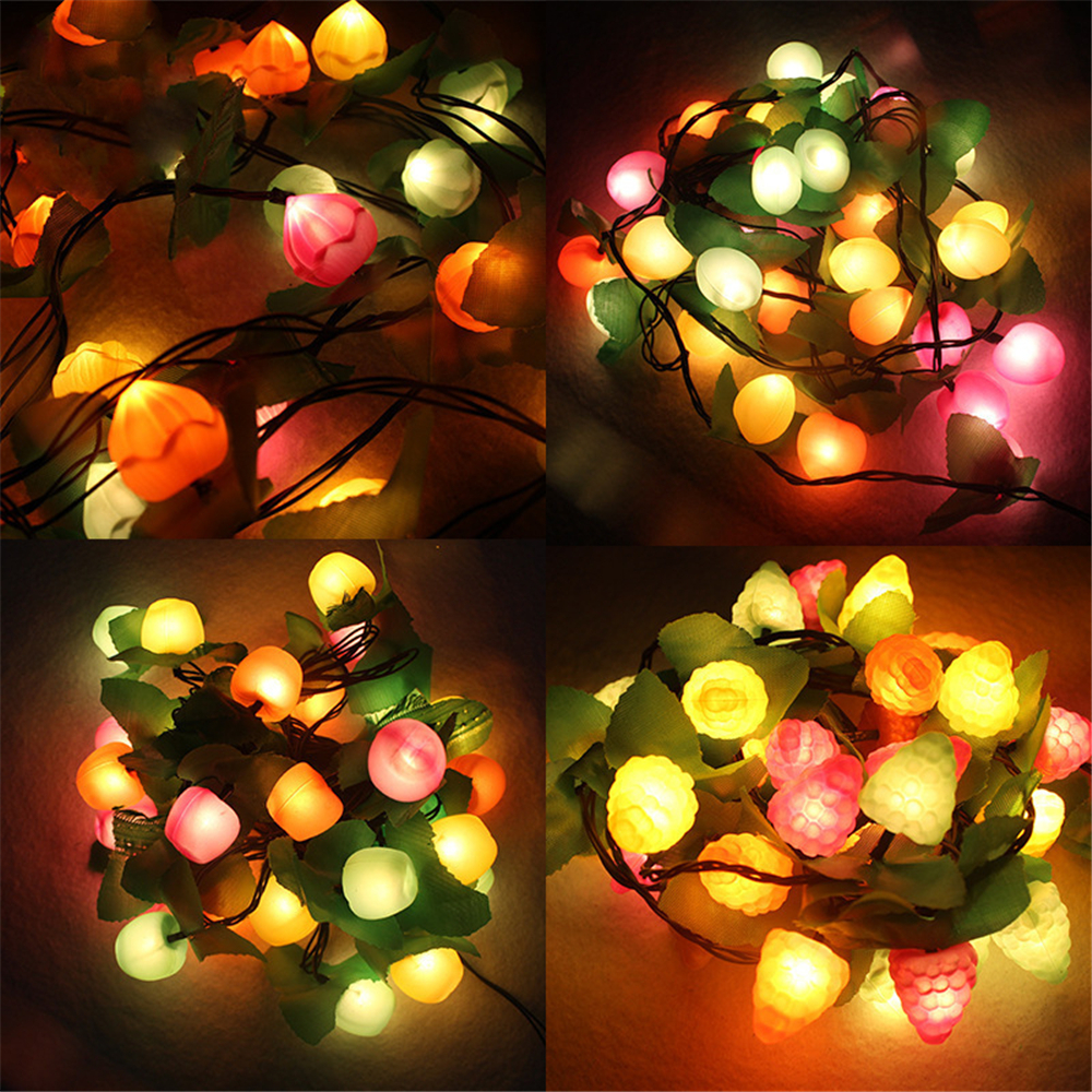 Christmas Tree 3 Meters 20 Led Fruit Lights String Decorative
