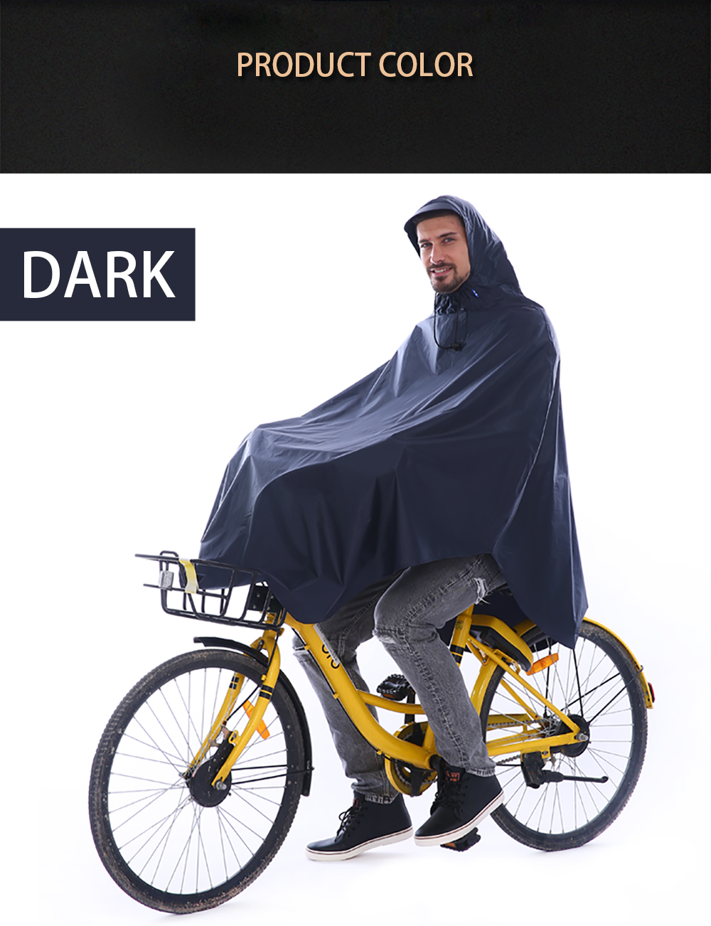 Waterproof Rain Poncho Bike Bicycle Rain Coat Capes Compact Scooter Cover- Purple Amethyst One Size
