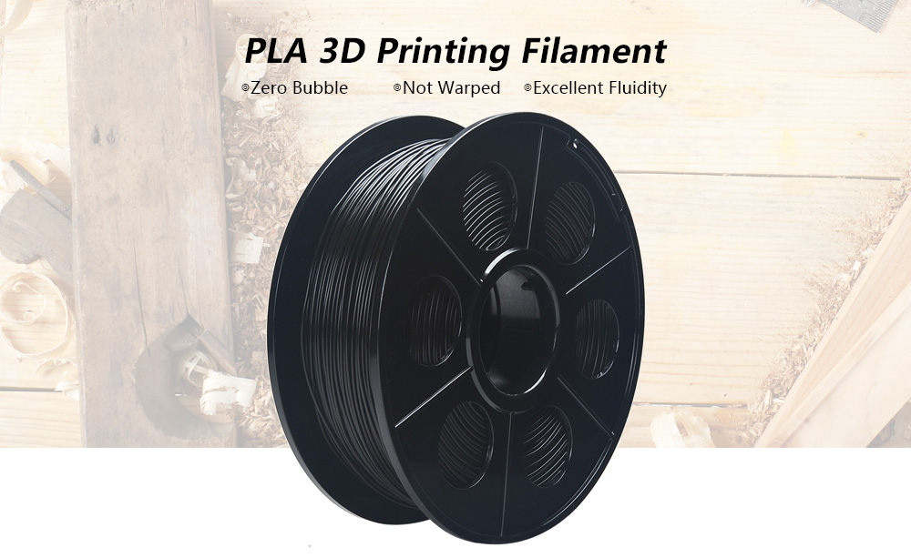 K - Camel 400m 1.75mm PLA 3D Printing Filament Material for DIY Project- Black