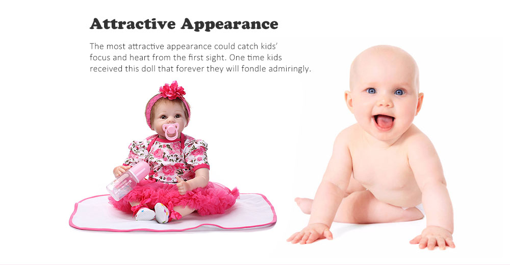 NPK Soft Silicone Real Looking Reborn Baby Doll Toy- Colormix