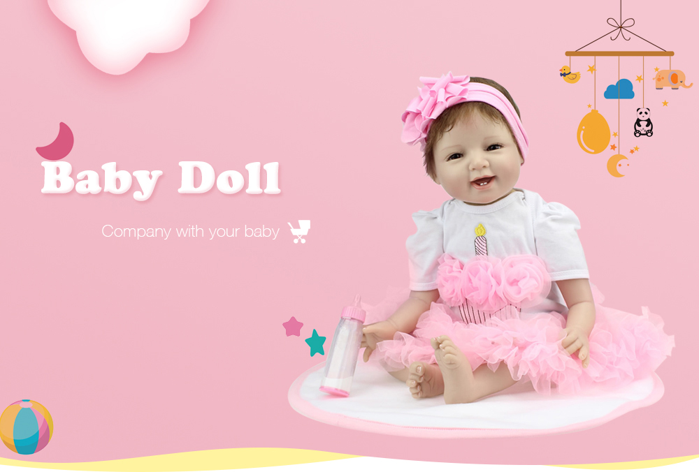 NPK Emulate Reborn Baby Smile Doll Stuffed Toy for Kids- Colormix