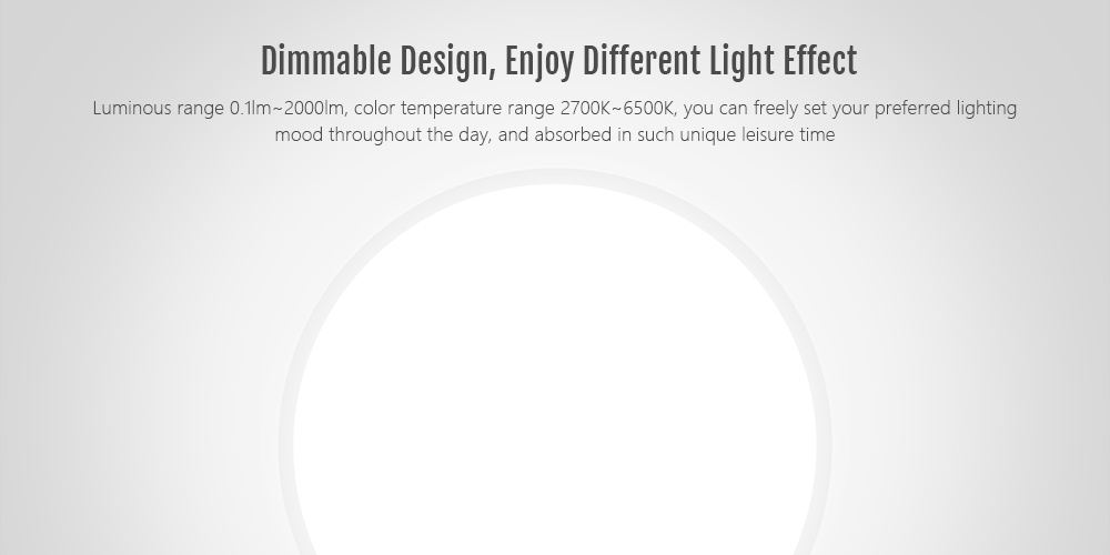 Yeelight YLXD01YL Intelligent LED Ceiling Lamp Dust Resistance Wireless Dimming Support Google Home 320 28W AC 220V ( Xiaomi Ecosystem Product )- White International Version
