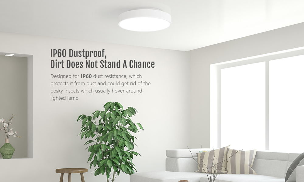 Yeelight YLXD01YL Simple Intelligent LED Ceiling Lamp Dust Resistance Wireless Dimming Support Google Home 320 28W AC 220V - White International version / without remote control
