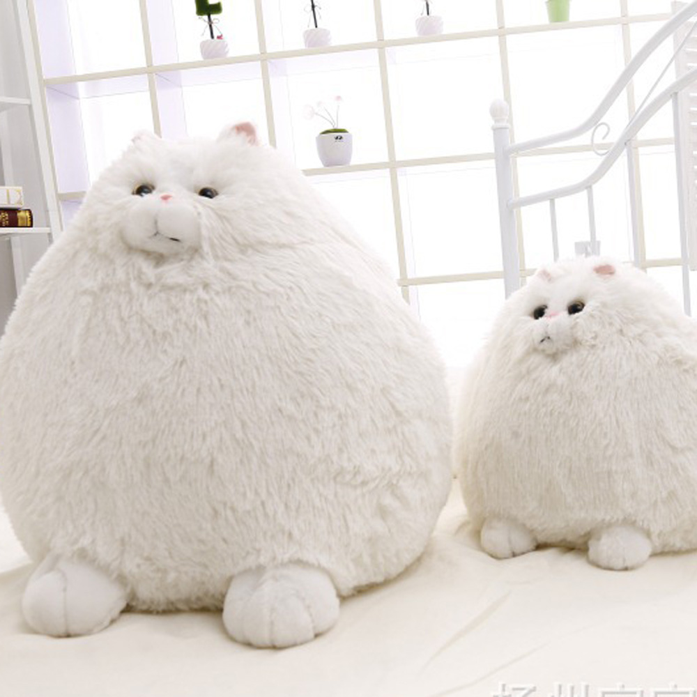 Fat Cat Stuffed Animal Fluffy White Cat Soft Adorable Huge Cat Plush