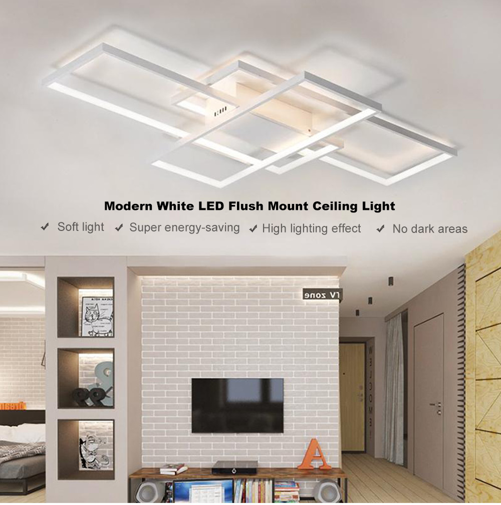 check out 23861 2fdc8 Modern White LED Flush Mount Ceiling Light Square Combination Shape for  Living Dining Room Bedroom