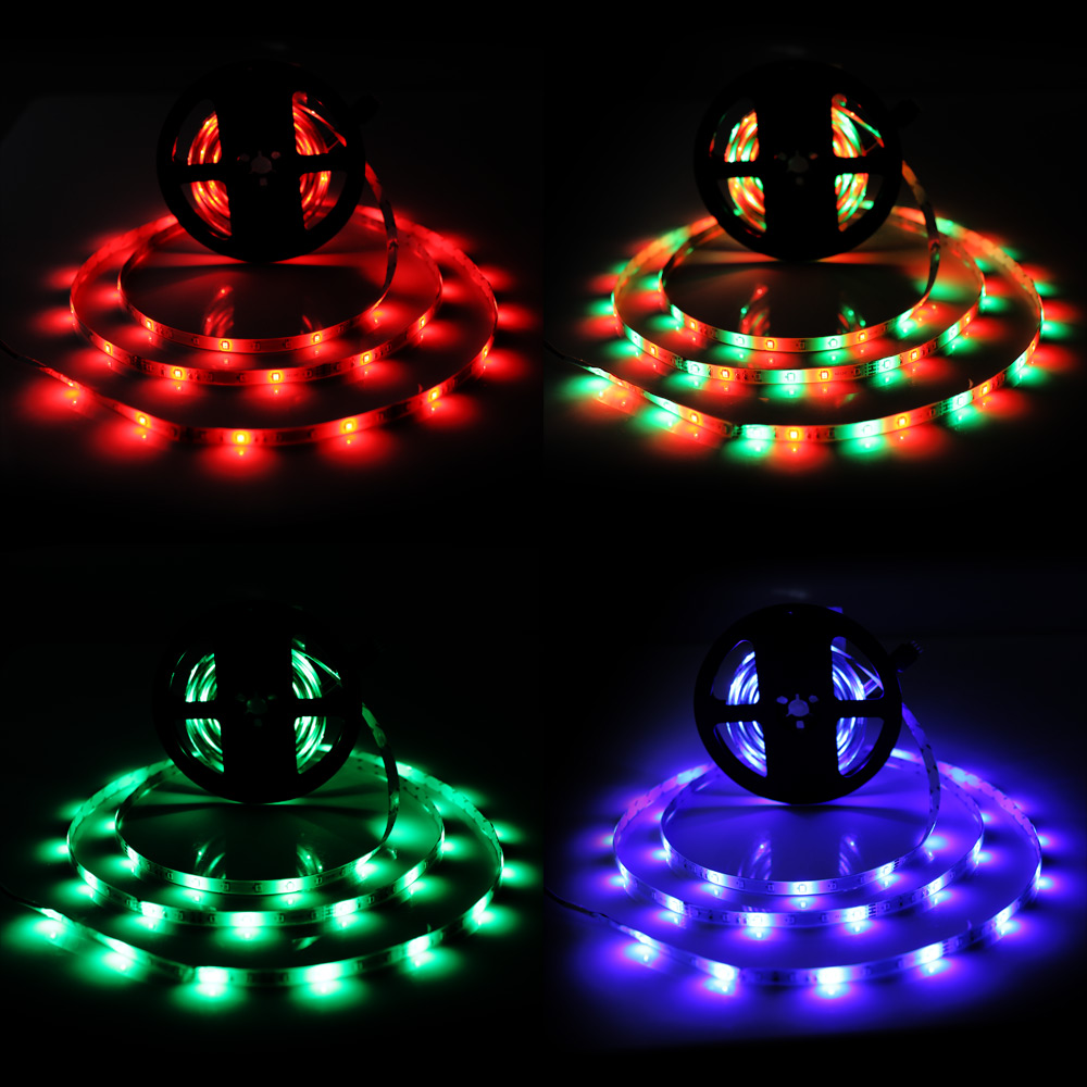 Brelong 10M 2835SMD RGB 600 LED RGB Non-waterproof Strip Light + Controller + Cable Connector + Adapter 3A EU / US 100 - 240V- RGB US