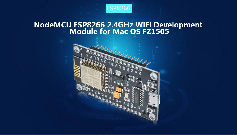 NodeMCU ESP8266 Lua WiFi Internet Development Board Black