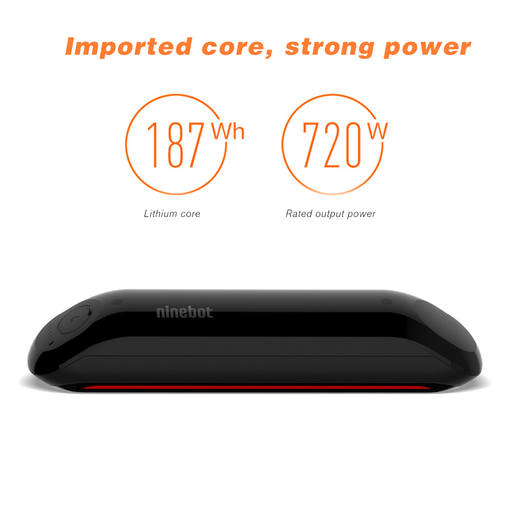 Ninebot Durable Extended Battery for Ninebot ES2 Electric Scooter - Black