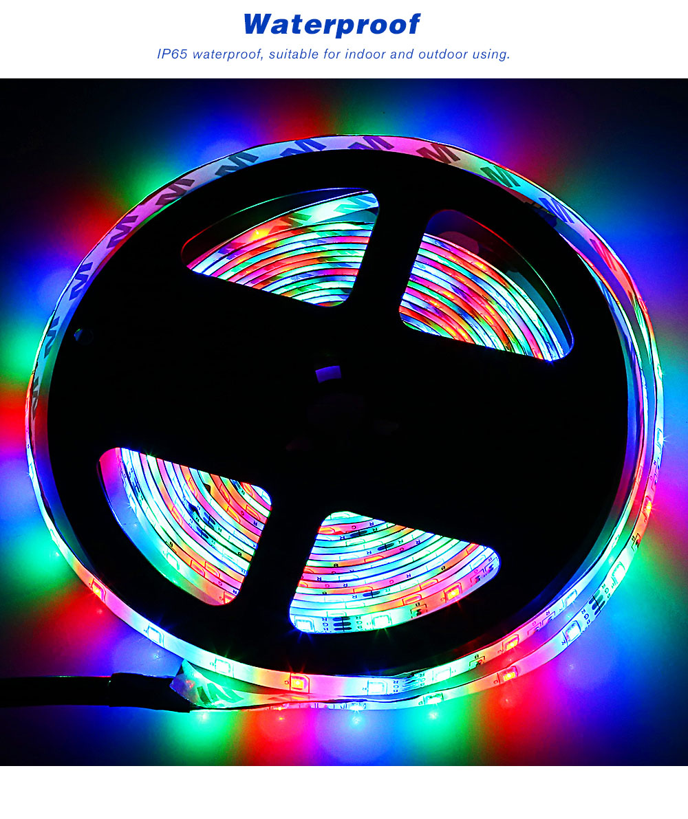 ZDM 5M 2835 RGB 300 LED Lights Strip Light with IR 24 Remote Control- RGB COLOR (24 KEYS)
