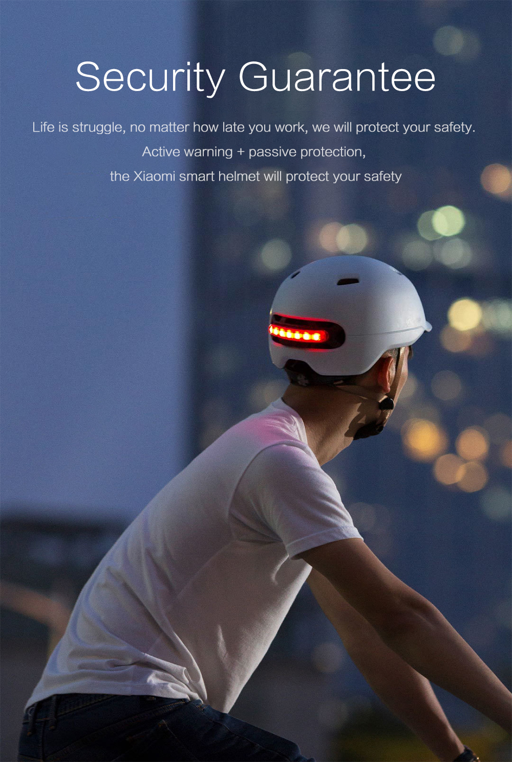 Xiaomi Smart 4u Smart Helmet Motorcycle Bicycle Lightweight Breathable Helmet L Code from Xiaomi youpin- White