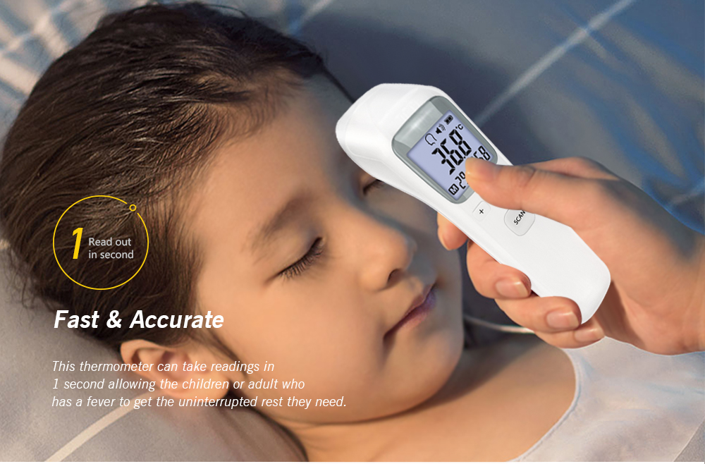 Alfawise CK - T1803 Infrared Thermometer- White