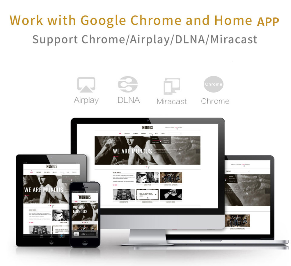 M9 1080P Wireless Display Dongle Support DLNA / Miracast / Airplay / Chrome