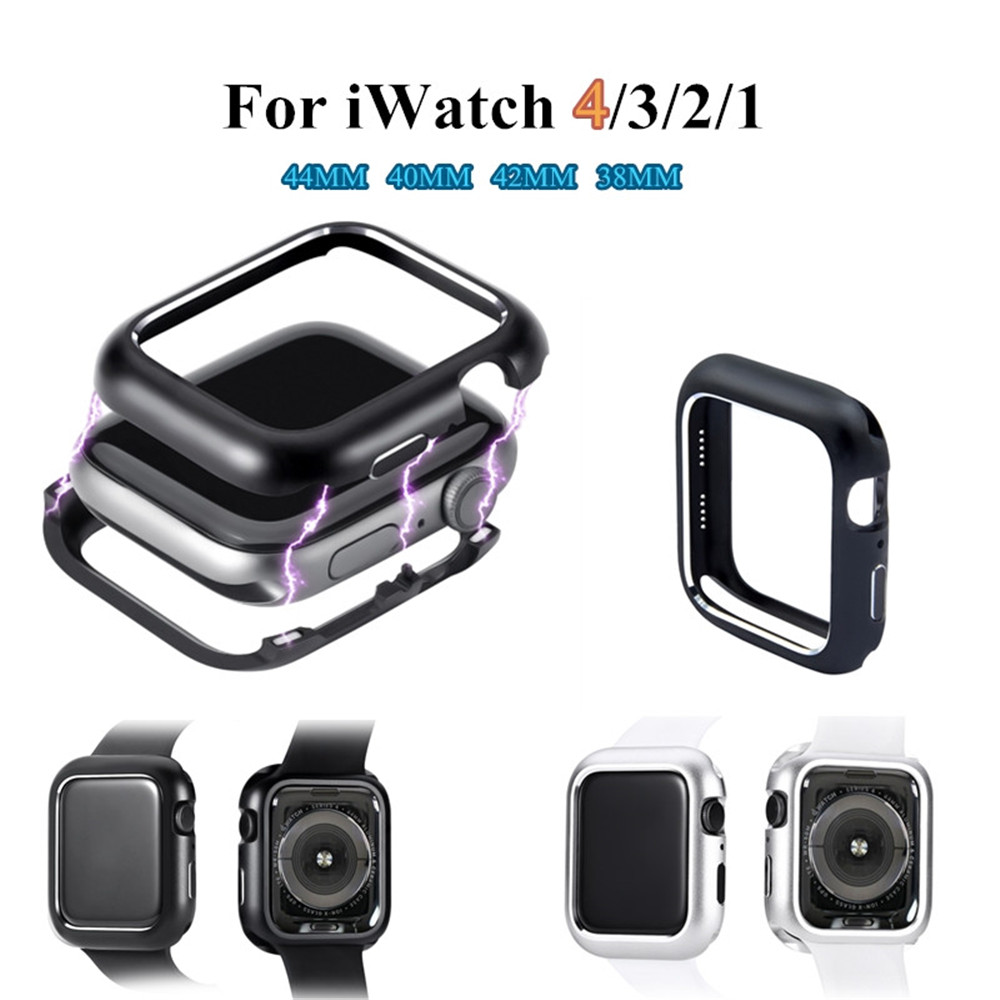 44MM Magnetic Adsorption Shell Protective Case for Apple Watch Series 1 2 3 4- Black