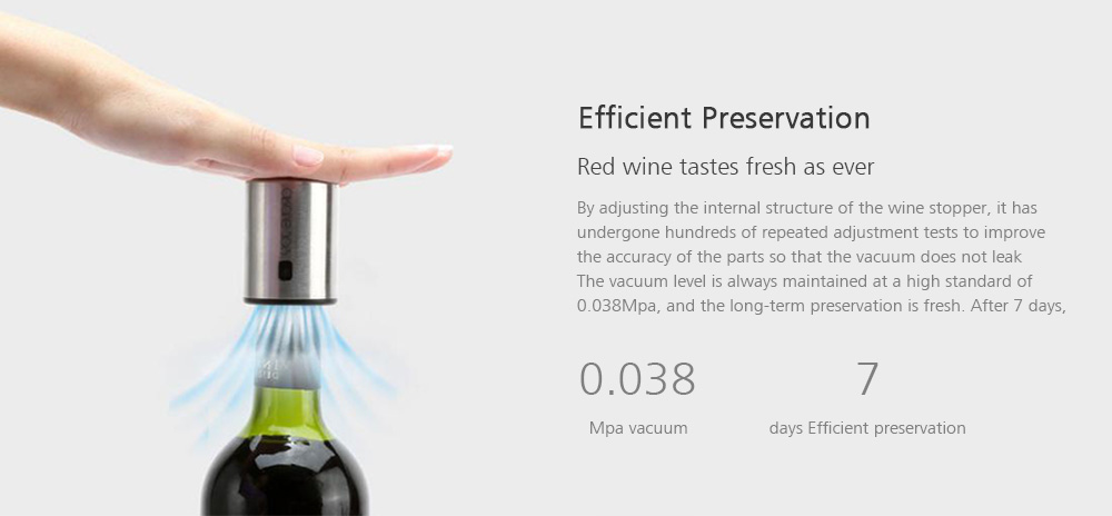From XIAOMI CIRCLE JOY 4-in-1 Wine Electric Opener Gift Set Wine Stopper Wine Decanter Tin Foil Cutter- Silver