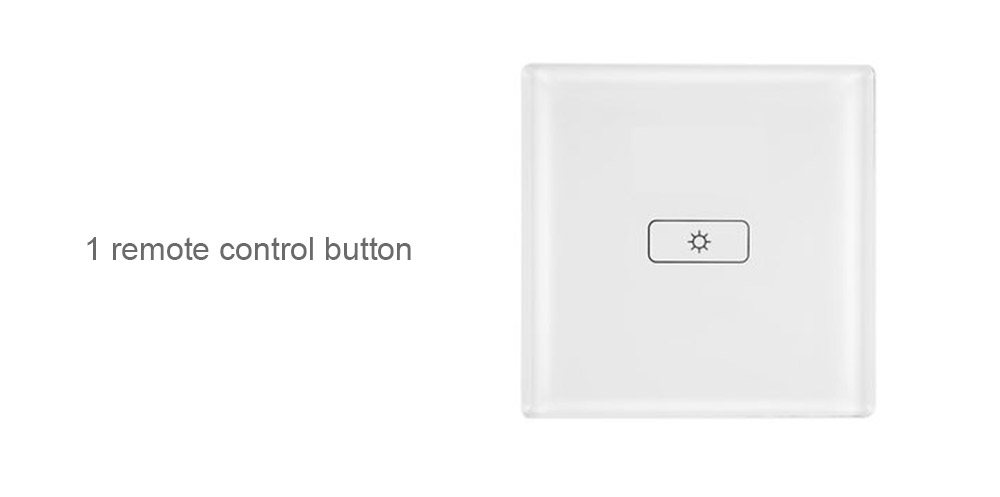 GR520A Remote Control Smart Wireless Touch Switch- White