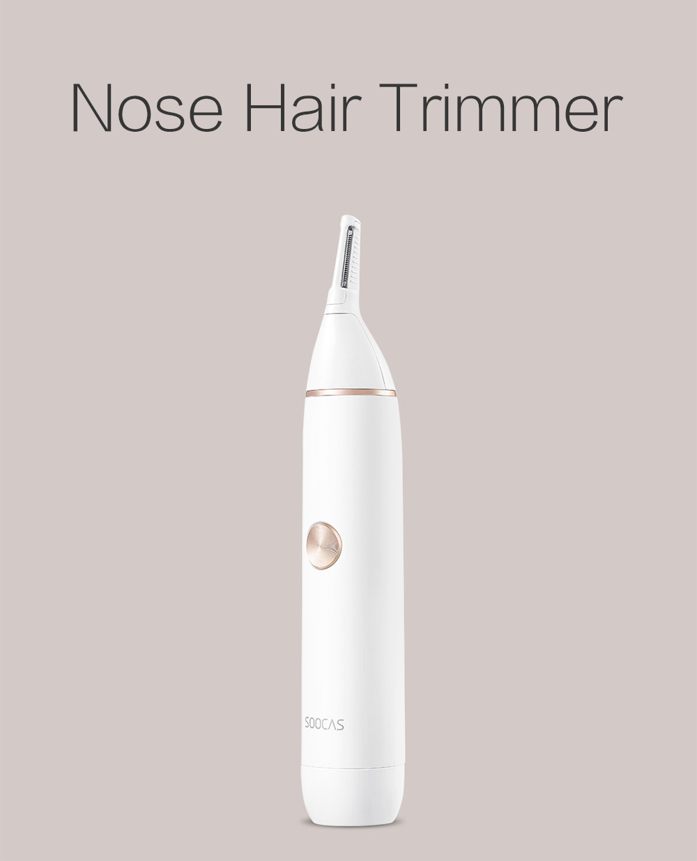 SOOCAS N1 Nose Hair Trimmer from Xiaomi Youpin- White