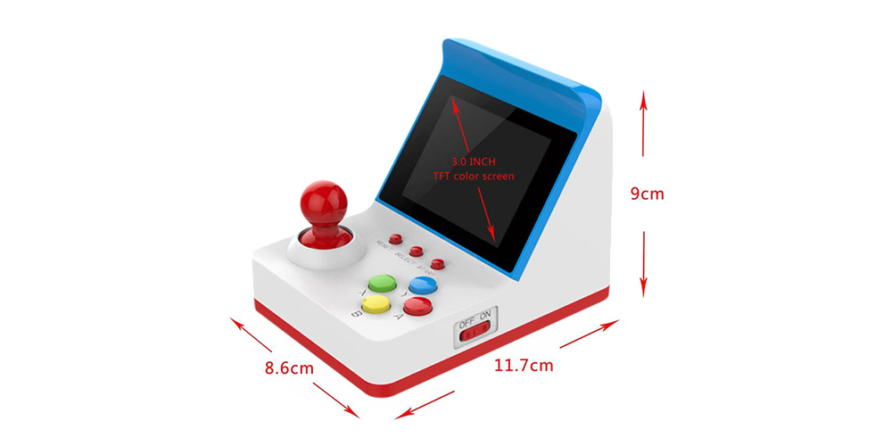 A6 Mini Retro Built-in 360 Game Double Handle Family Computer  - White