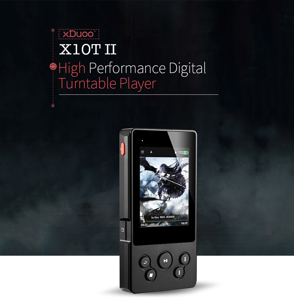 XDUOO X10TII Bluetooth Digital Turntable Lossless Portable Music Player