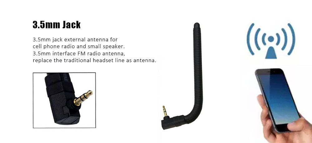 US GPS Mobile Cell Phone Signal Booster External Wireless Antenna 3.5mm Jack