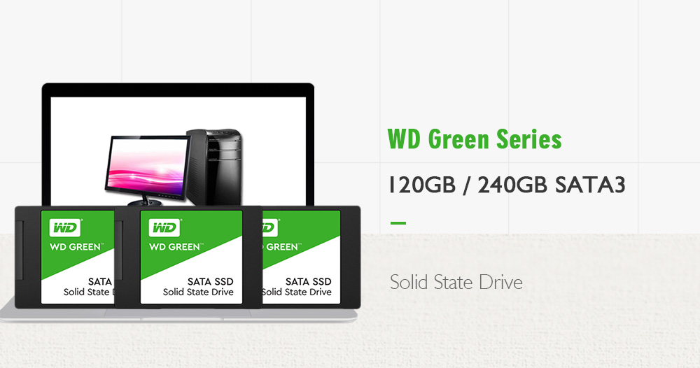 WD Green 2.5Inch 120GB SATA3 SSD- Green 120GB