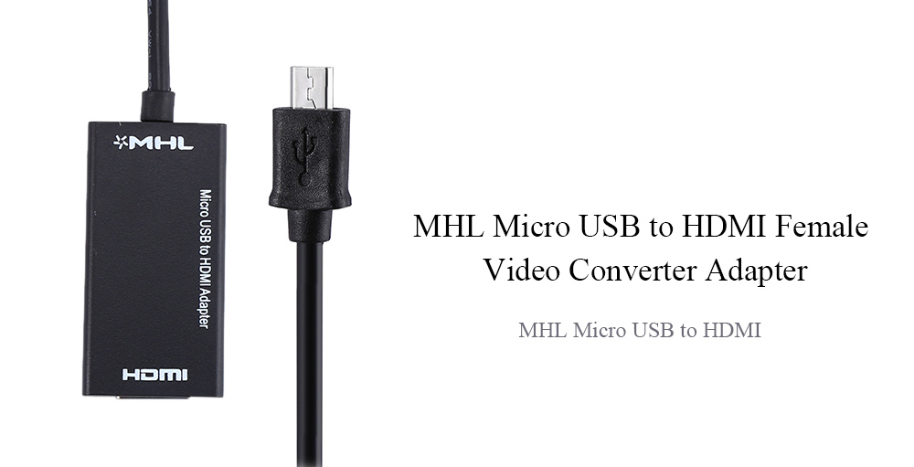 Mhl Micro Usb To Hdmi Female Video Converter Adapter Cable 4 04