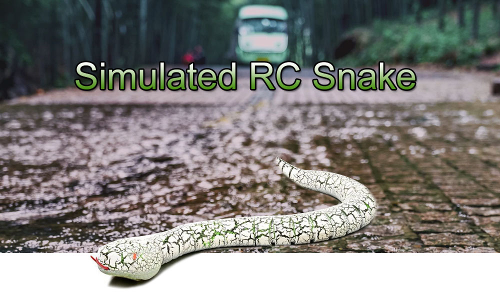 Remote Control Snake Simulation RC Rattlesnake Toy Gift- Black