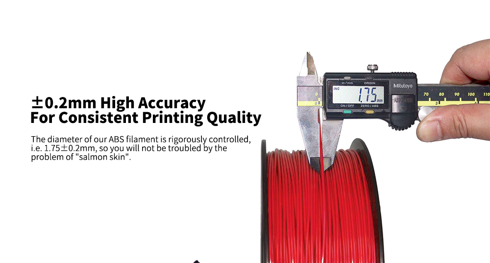 Alfawise ABS 3D Printer 1.75mm Filament + / -0.2mm High Accuracy 1kg Spool- Gray