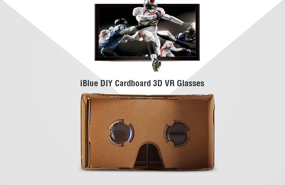 Iblue Diy Cardboard 3d Vr Glasses Smart Phone 3d Private Theater With Magnetic Sensor For 3 5 5 5 Inches Smartphone