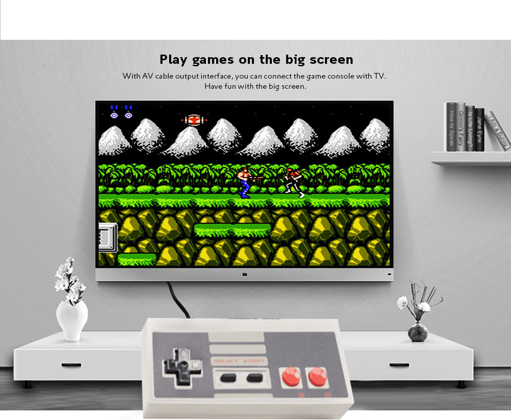 Mini Game Consoles Built-in 620 TV Video Game Compatible with NES - Platinum 13 x 10 x 4.5 CM