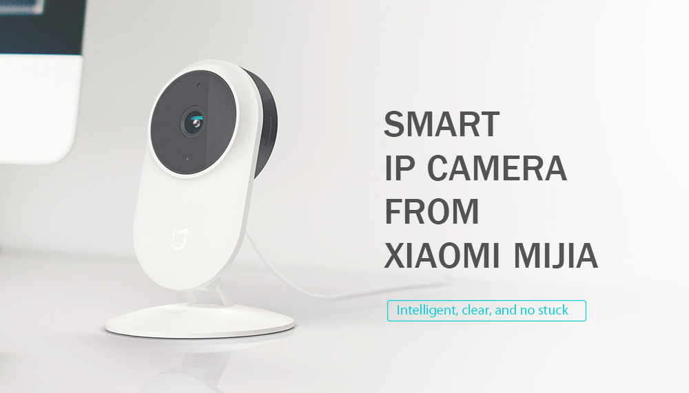 Xiaomi Mijia SXJ02ZM 1080P FHD Smart IP Camera WiFi 130 Degree FOV Partition AI Detection 10m Infrared Night Vision - White