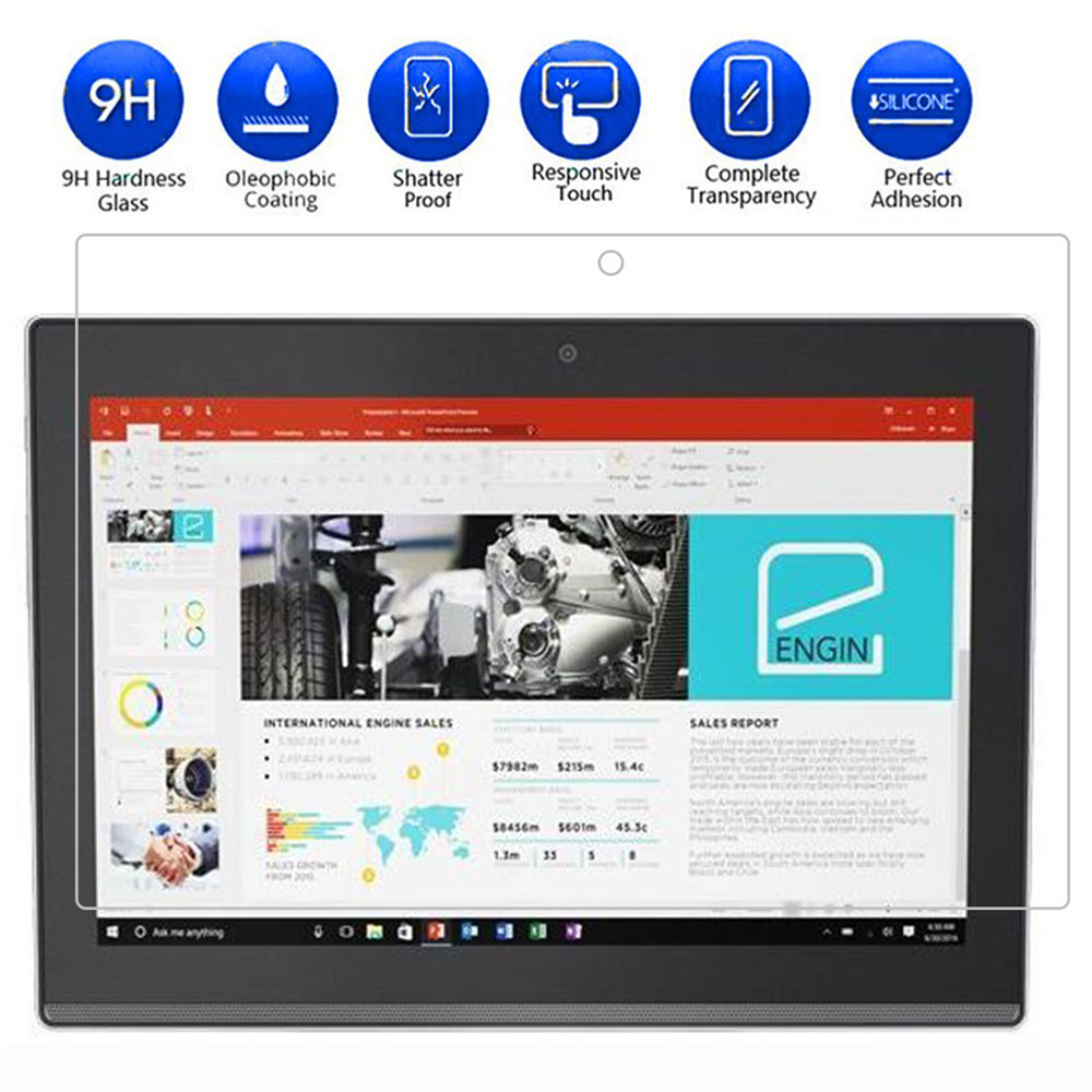 Screen Protector for Lenovo Miix 320 HD Explosion-Proof Tablet Tempered Glass- Transparent