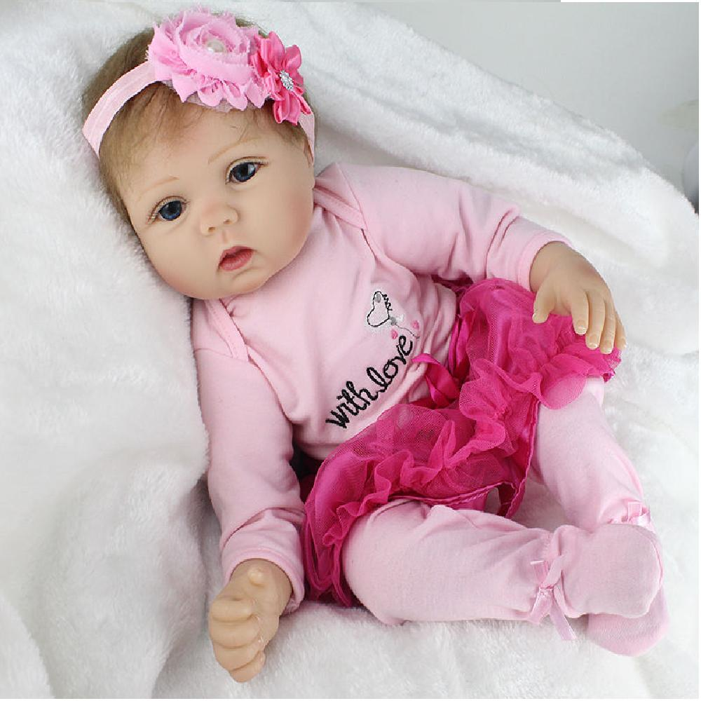 Infant Baby Dolls Long Sleeves Tops Dress Skirt Shorts For 22/'/' Newborn Doll