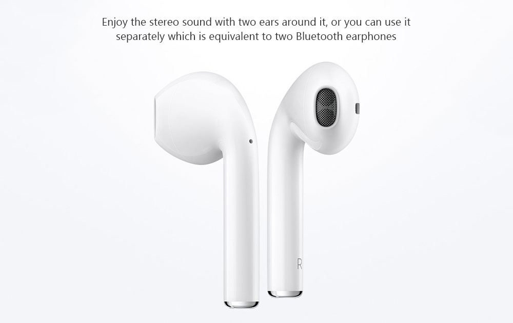 HOCO ES20 TWS Mini Binaural Bluetooth Earphones In-ear Wireless Stereo Earbuds with Mic and Charging Dock- White