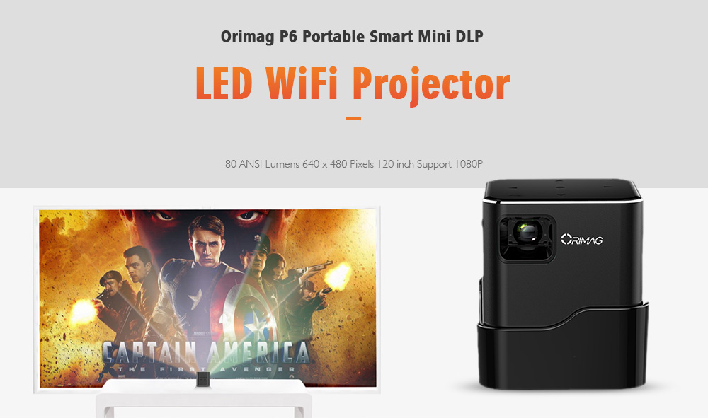 orimag p6 portable smart mini dlp led wifi projector sale price reviews gearbest orimag p6 portable smart mini dlp led wifi projector