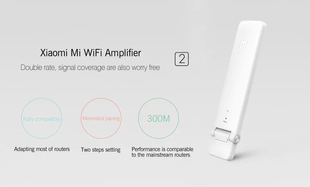 Original Xiaomi 2 Generation WiFi Signal Amplifier- White